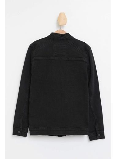 DeFacto Erkek Çocuk Fermuarlı Jean Ceket Siyah